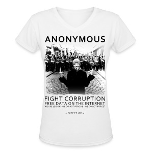 Anonymous 4 - Women's V-Neck T-Shirt