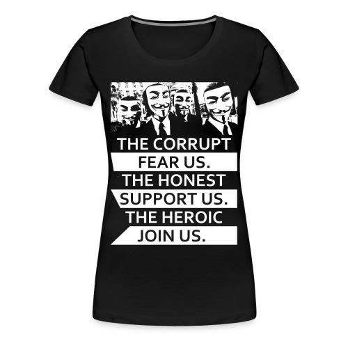 Anonymous 5 - Women's Premium T-Shirt