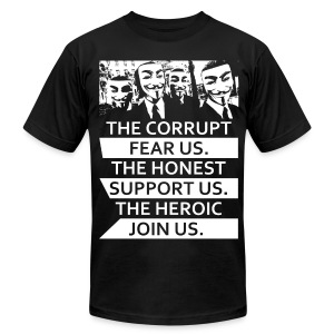 Anonymous 5 - Men's T-Shirt by American Apparel