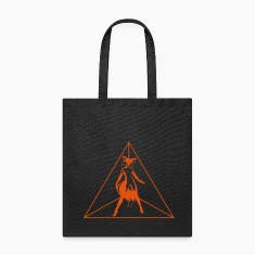 sexy fox in triangle Bags & backpacks