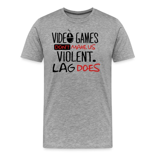 VideoGames Vs Lag  - Men's Premium T-Shirt