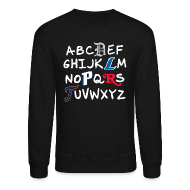 Long Sleeve Shirts ~ Men's Crewneck Sweatshirt ~ Detroit Alphabet