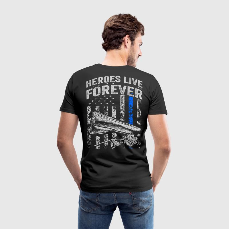Heroes Live Forever | Police Week - Men's Premium T-Shirt