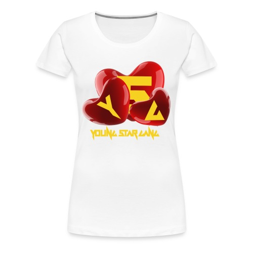 I Love YSG Hearts Shirt  - Women's Premium T-Shirt