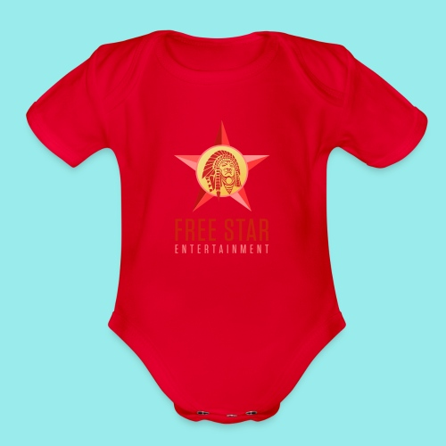 Free Star Entertainment Baby one piece  - Organic Short Sleeve Baby Bodysuit