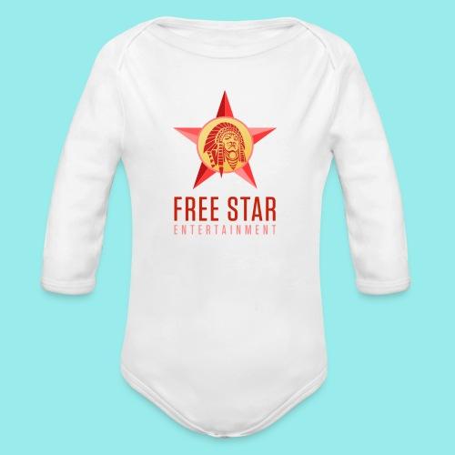 Free Star Entertainment One Piece (Long Sleeve)  - Organic Long Sleeve Baby Bodysuit