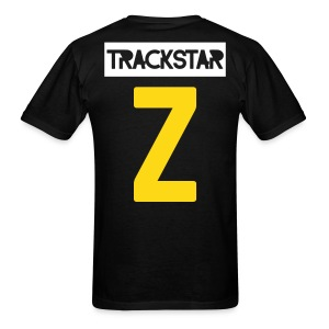 With a Z Tee | Yellow and White on Black - Men's T-Shirt