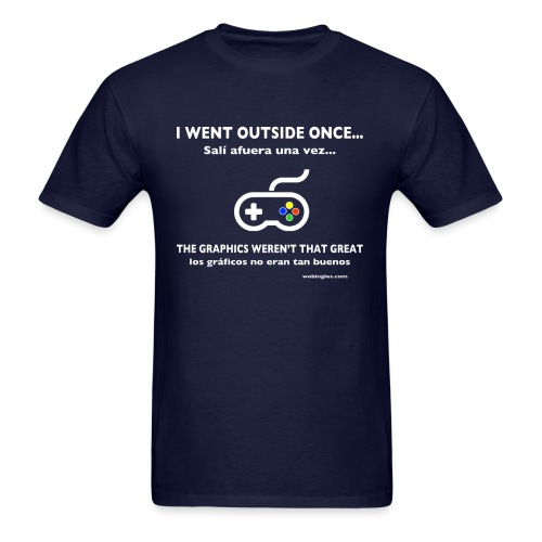 Video Jugador va afuera, Gamer goes outside - Men's T-Shirt