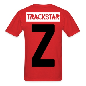 With a Z Tee | Black and White on Red - Men's T-Shirt