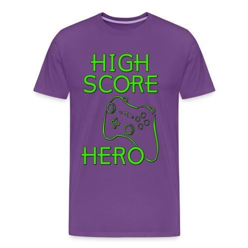 High Score Hero - Men's Premium T-Shirt