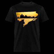 T-Shirts ~ Men's T-Shirt ~ Detroit Skyline River