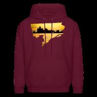 Hoodies ~ Men's Hoodie ~ Detroit Skyline River