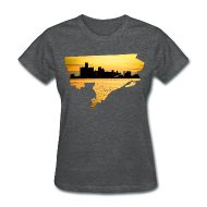Women's T-Shirts ~ Women's T-Shirt ~ Detroit Skyline River