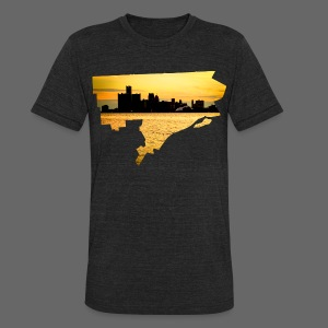 Detroit Skyline River - Unisex Tri-Blend T-Shirt by American Apparel