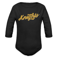 Baby Bodysuits ~ Baby Long Sleeve One Piece ~ Retro UCF Knights Long Sleeve