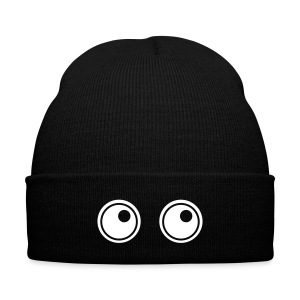 eyes - Knit Cap with Cuff Print