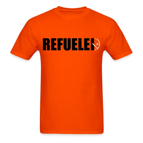 Refueled orange  - Men's T-Shirt