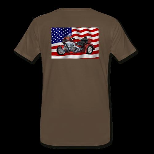 Men's Premium T Back FlagwTrike - Men's Premium T-Shirt