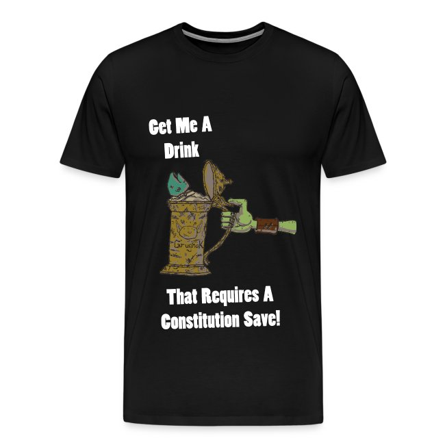 Nerdarchy Get Me A Drink Men's Premium T-Shirt