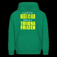 Hoodies ~ Men's Hoodie ~ Beer Cold & Tundra Frozen