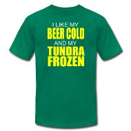 T-Shirts ~ Men's T-Shirt by American Apparel ~ Beer Cold & Tundra Frozen