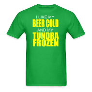 T-Shirts ~ Men's T-Shirt ~ Beer Cold & Tundra Frozen