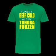 T-Shirts ~ Men's Premium T-Shirt ~ Beer Cold & Tundra Frozen