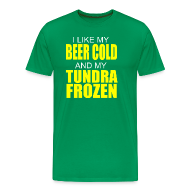 T-Shirts ~ Men's Premium T-Shirt ~ Beer Cold & Tundra Frozen