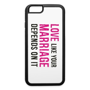 iPhone 6/6s Rubber Case - Husband,Love,Marriage,Wife