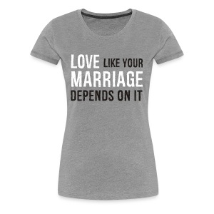 Women's Premium T-Shirt - Husband,Love,Marriage,Wife