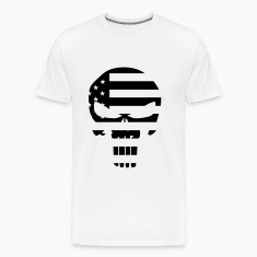 The Punisher Skull American Flag