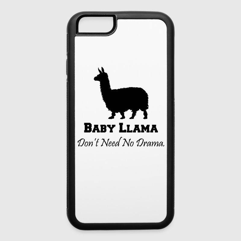 Baby Llama Don't Need No Drama Accessories - iPhone 6/6s Rubber Case