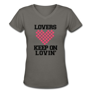 Keep On Lovin' - Women's V-Neck T-Shirt