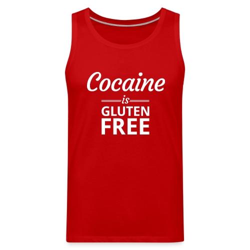 Cocaine is Gluten Free - Mens Tank Top - Men's Premium Tank