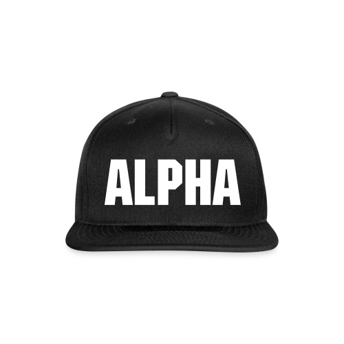ALPHA snapback - Snap-back Baseball Cap