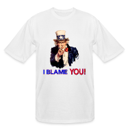 T-Shirts ~ Men's Tall T-Shirt ~ I Blame You - Retro Uncle Sam Pointing