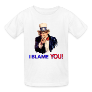 Kids' Shirts ~ Kids' T-Shirt ~ I Blame You - Retro Uncle Sam Pointing