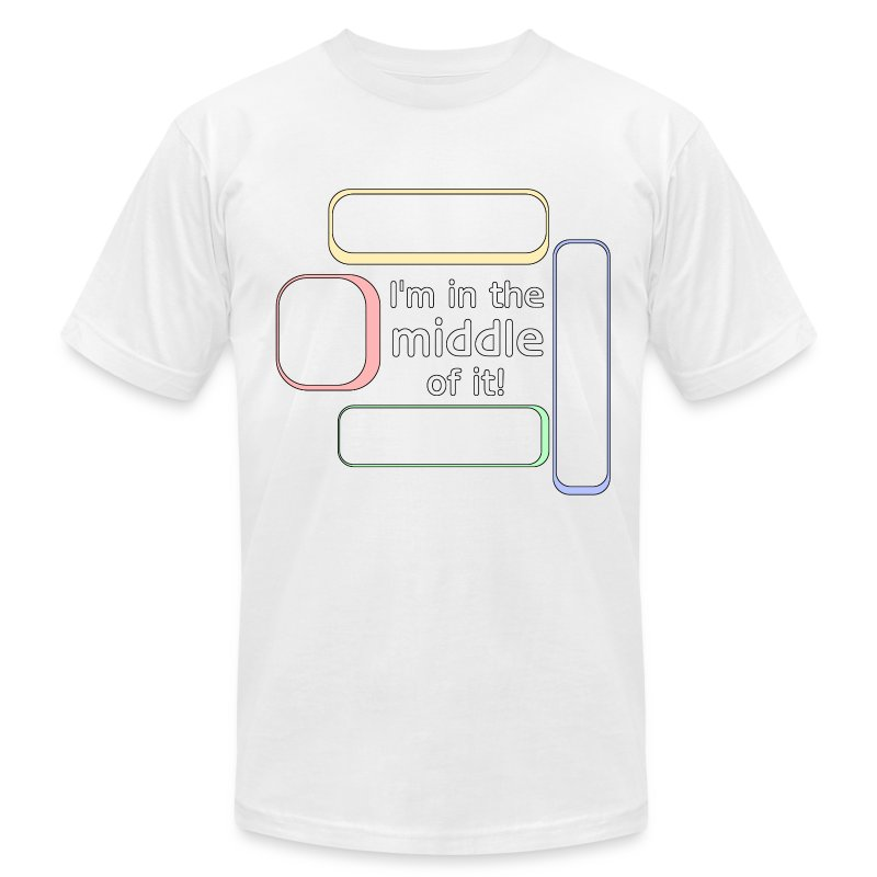 middleofit_copy - Men's T-Shirt by American Apparel
