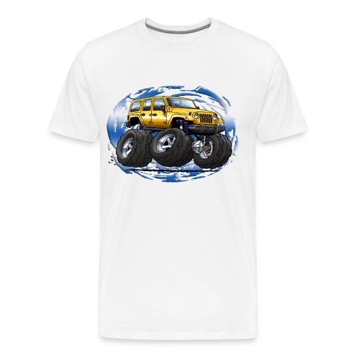 Jeep Wrangler Unlimited yellow cartoon - Men's Premium T-Shirt