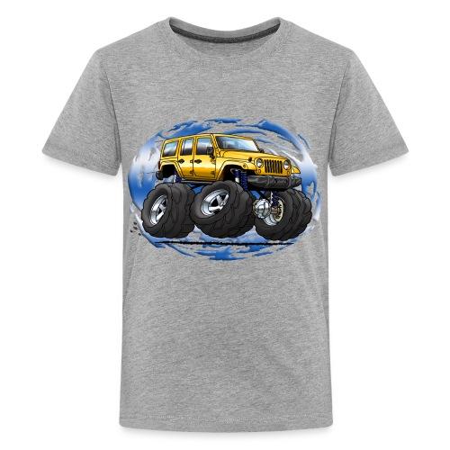 Jeep Wrangler Unlimited Yellow cartoon - Kids' Premium T-Shirt