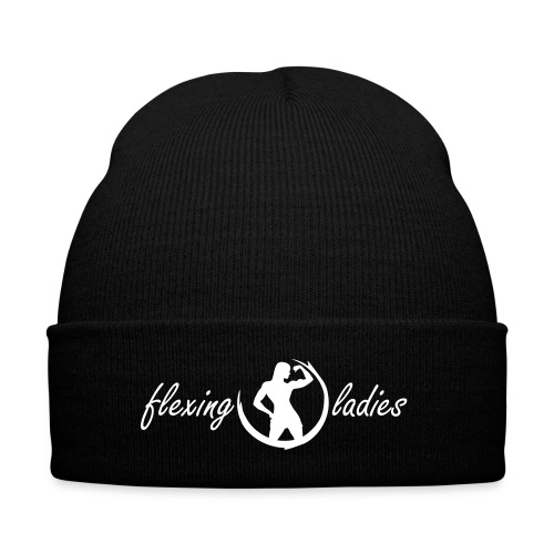 flexing ladies hat - Knit Cap with Cuff Print