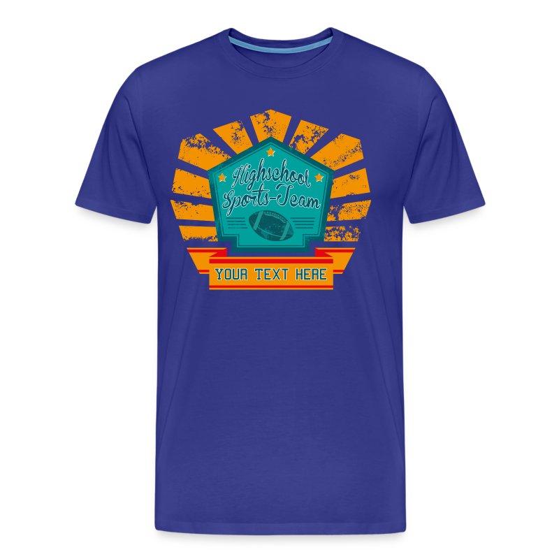 Football high school t shirt spreadshirt for High school basketball t shirts