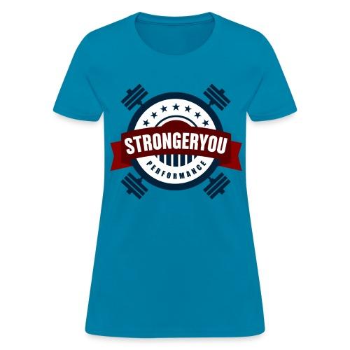 Women's StrongerYou Performance Team Tee - Blue - Women's T-Shirt