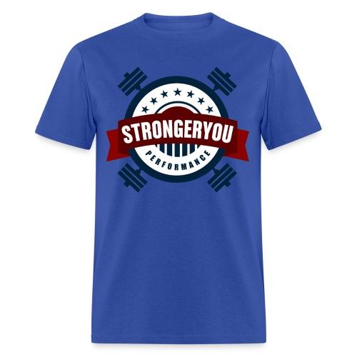 Men's StrongerYou Performance Team Tee - Blue - Men's T-Shirt