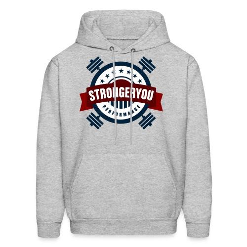 Men's StrongerYou Performance Team Hoodie- Grey - Men's Hoodie