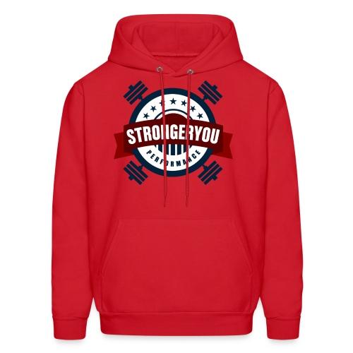 Men's StrongerYou Performance Team Hoodie- Red - Men's Hoodie