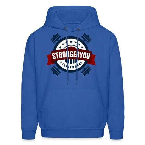 Men's StrongerYou Performance Team Hoodie- Blue - Men's Hoodie