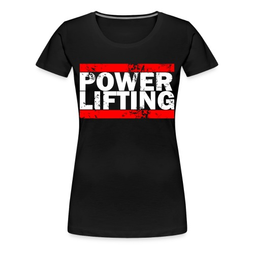 Women's Power Lifting Logo Tee - Women's Premium T-Shirt