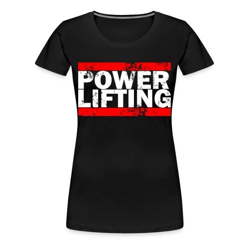 Women's Power Lifting Logo Tee - Women's Premium T-Shirt