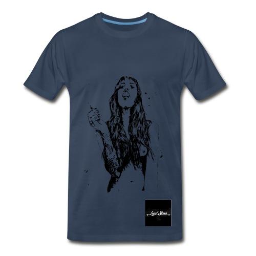 Legal Stoner - Men's Tee (Pic of Woman)  - Men's Premium T-Shirt